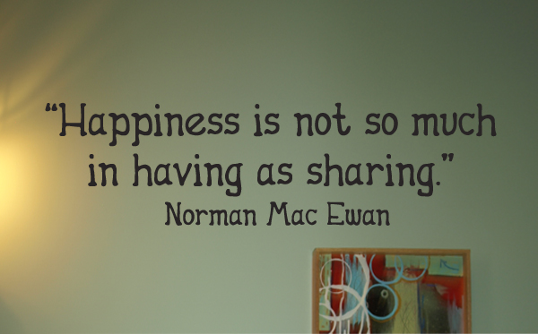 Happiness Sharing Wall Decals