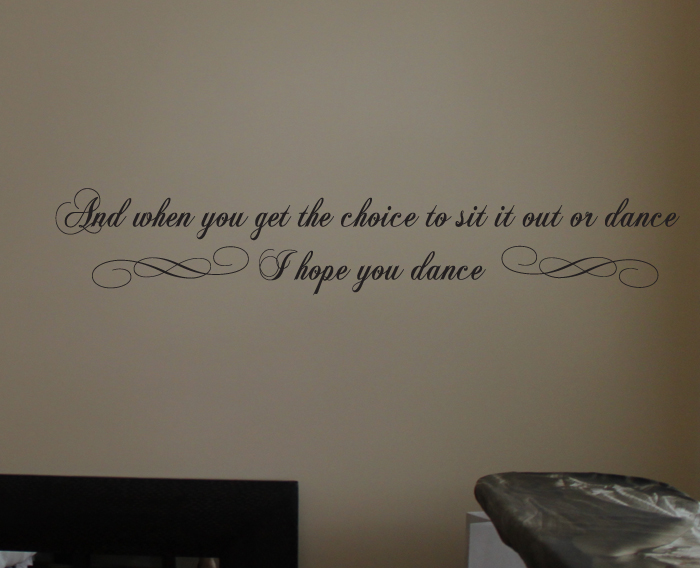 Choice Sit It Out Dance Wall Decals