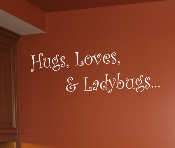 Hugs Loves Ladybugs Wall Decals