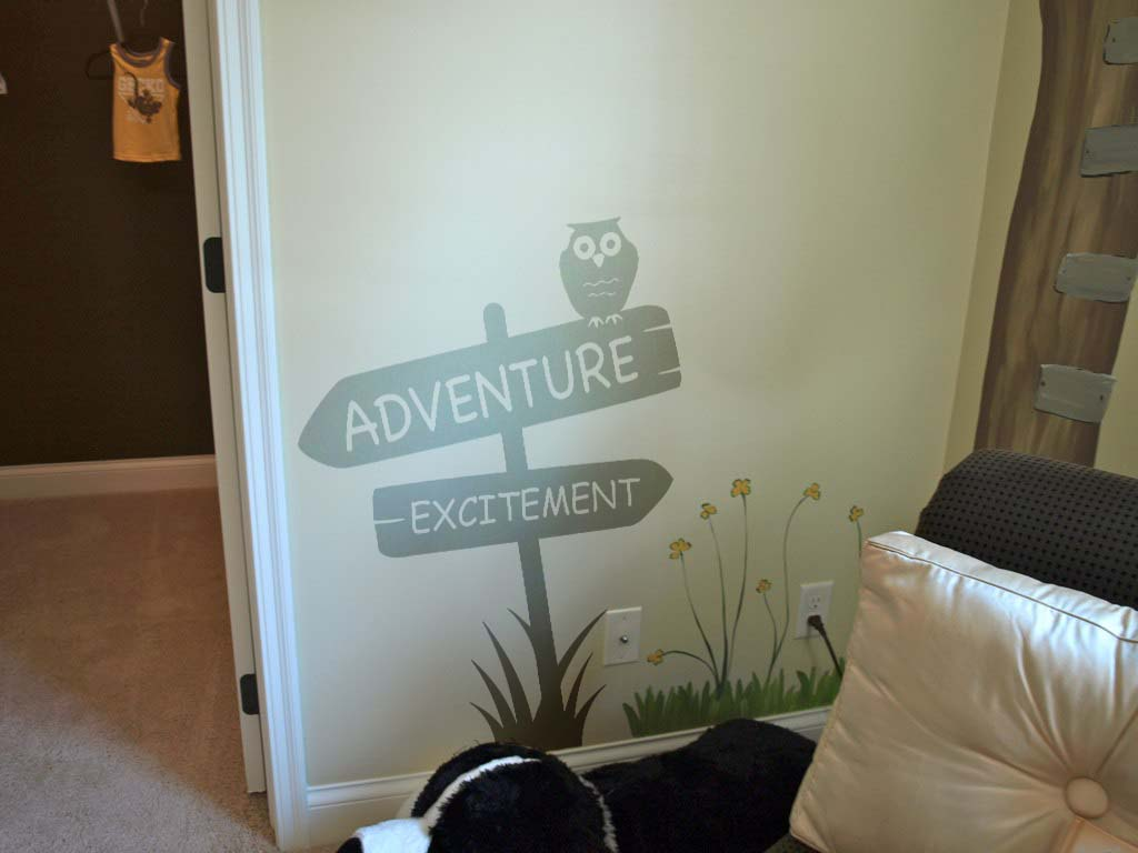 Adventure Excitement Signs Wall Decal