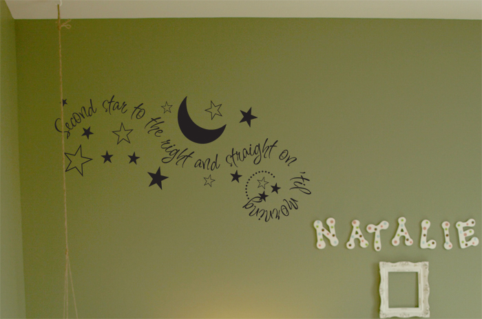 Second Star To The Right Wall Decals