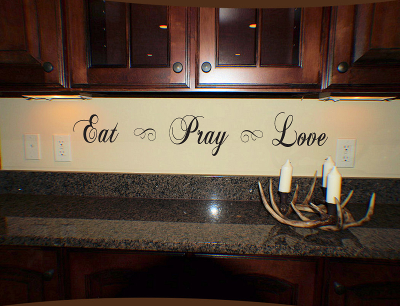 Script Eat Pray Love Wall Decal