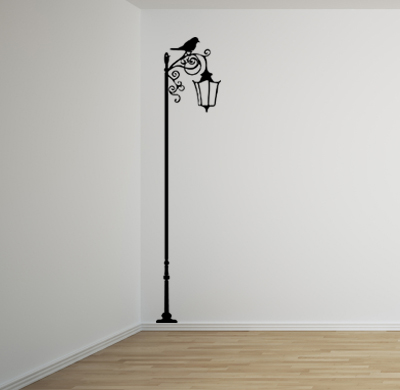 Wrought Iron Lamp Post Wall Decal