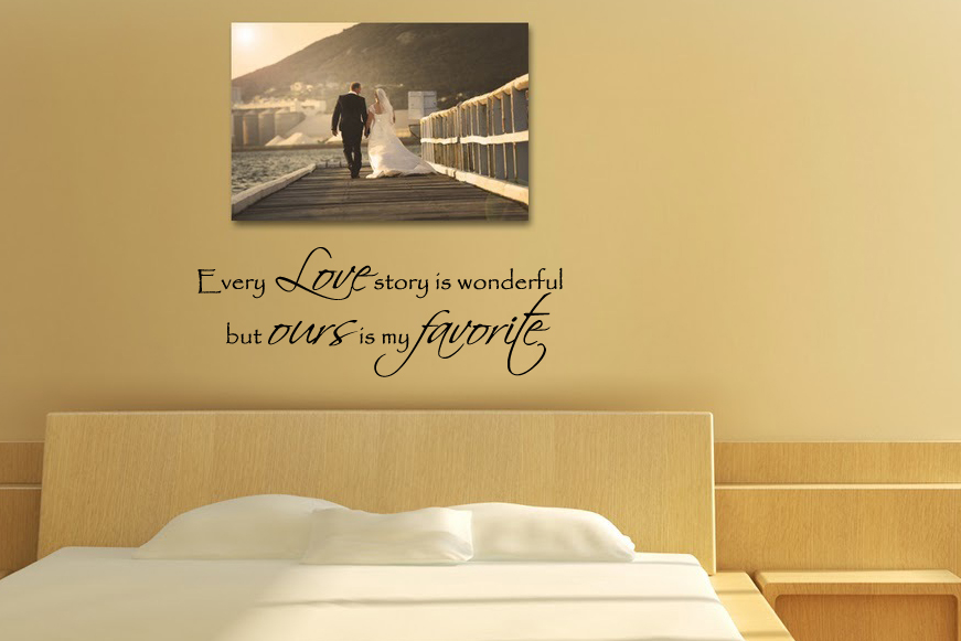 Every Love Story Wonderful Wall Decal