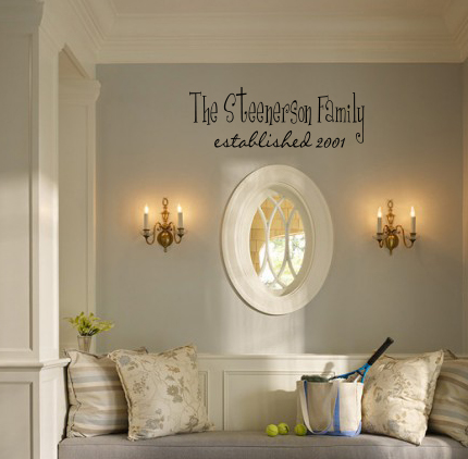 Multi-Font Family Established Year Wall Decal