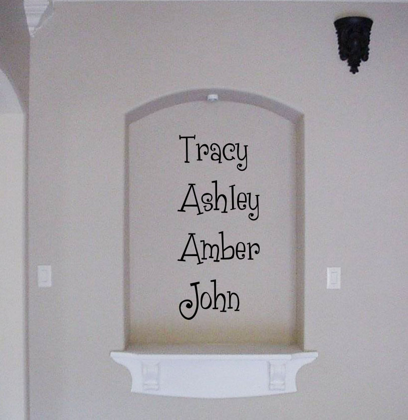 Fun Family Names Wall Decal