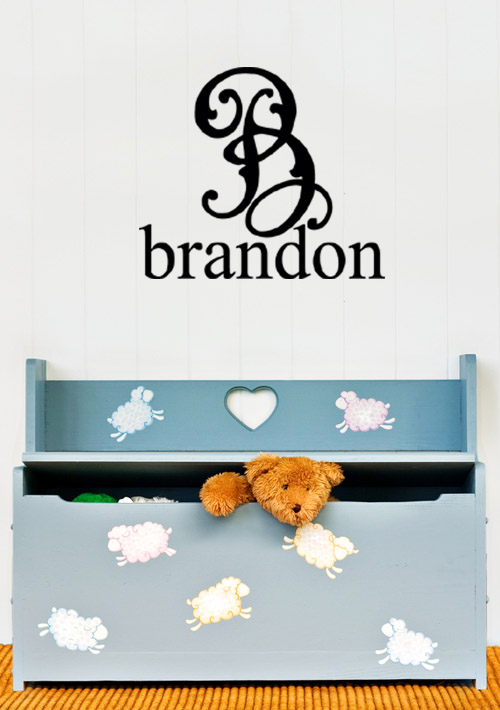 Fancy Monogram Personalized Wall Decals
