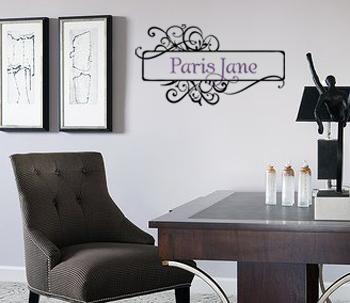 Paris Monogram Wall Decal