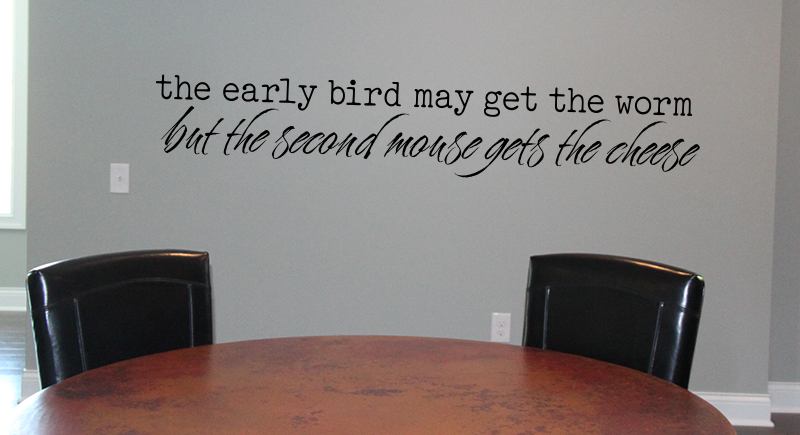 Early Bird Second Mouse Wall Decal