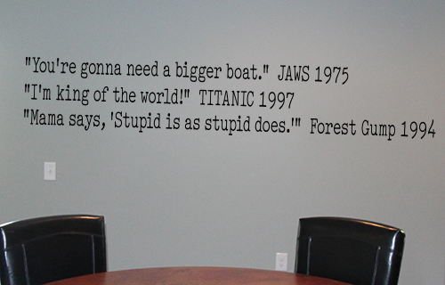 Movie Quotes II Wall Decal