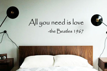 All You Need Is Love Beatles Wall Decal