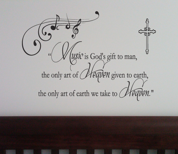 Music Art Of Heaven Wall Decal