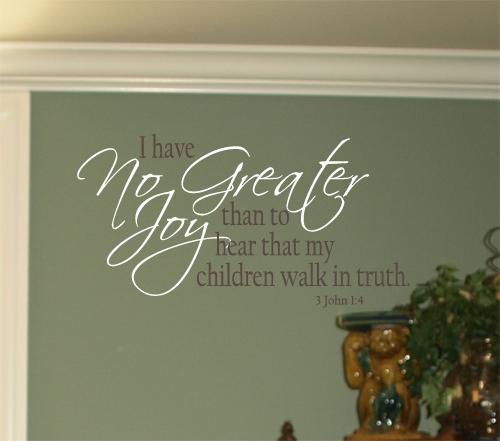 Children Walk In Truth Wall Decal