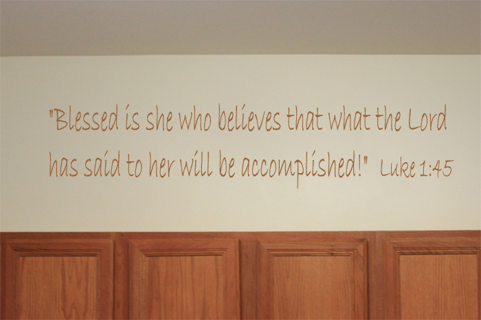 Blessed Is She Wall Decal