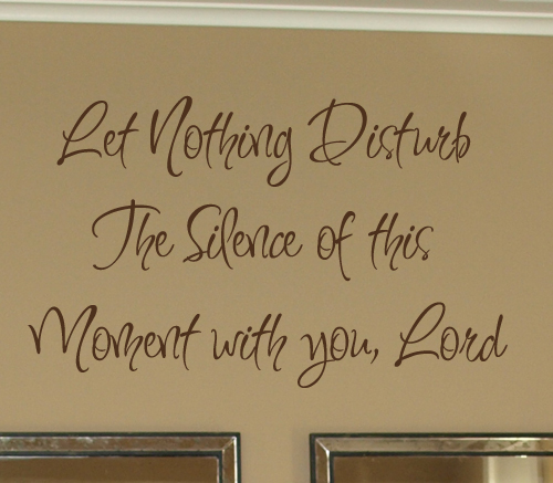 Let Nothing Disturb Wall Decal