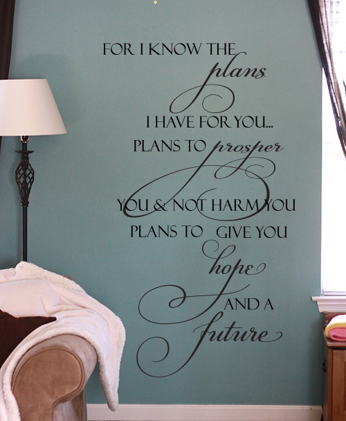 Vertical Plans To Prosper Wall Decal