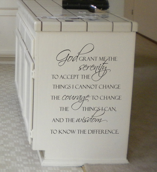 God Grant Me Serenity Courage Wisdom Wall Decal