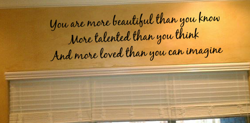 More Loved Wall Decal