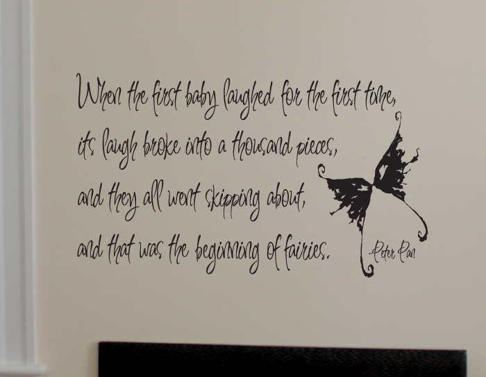 Peter Pan First Baby Laughed Wall Decal