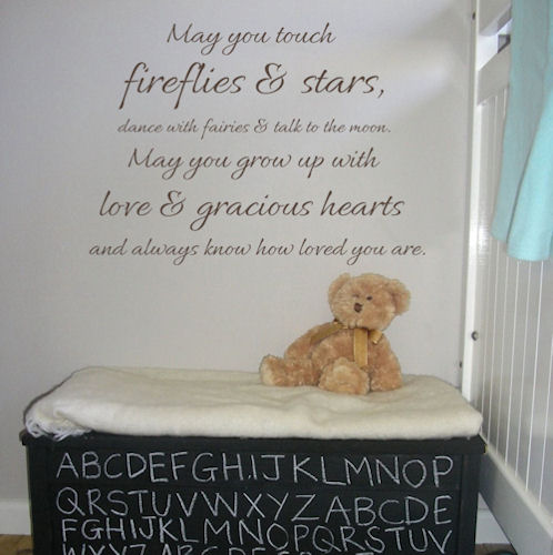 Touch Fireflies and Stars Wall Decals
