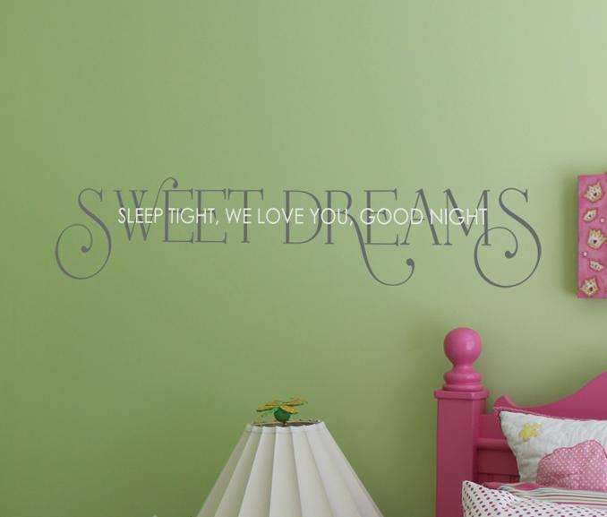 Sweet Dreams Sleep Tight Wall Decal
