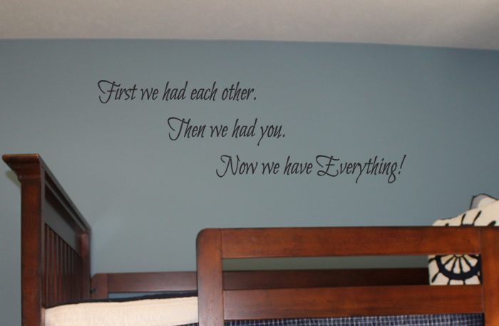 Then We Had You Wall Decal