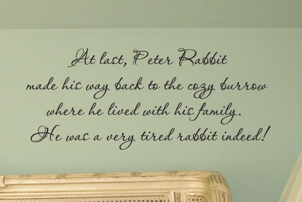 Peter Rabbit Wall Decal