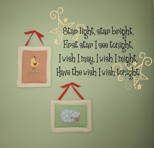 Star Light Star Bright Wall Decals