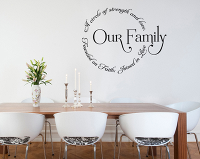 Our Family Circle Wall Decal