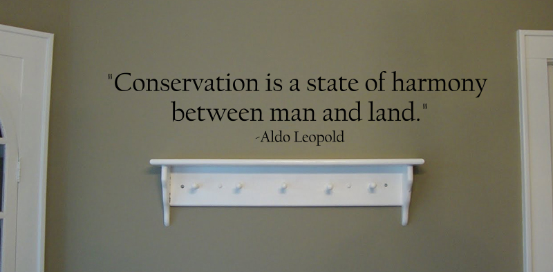 Conservation Is A State Wall Decals