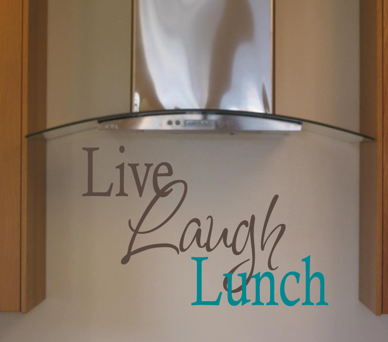 Live Laugh Lunch II Wall Decal