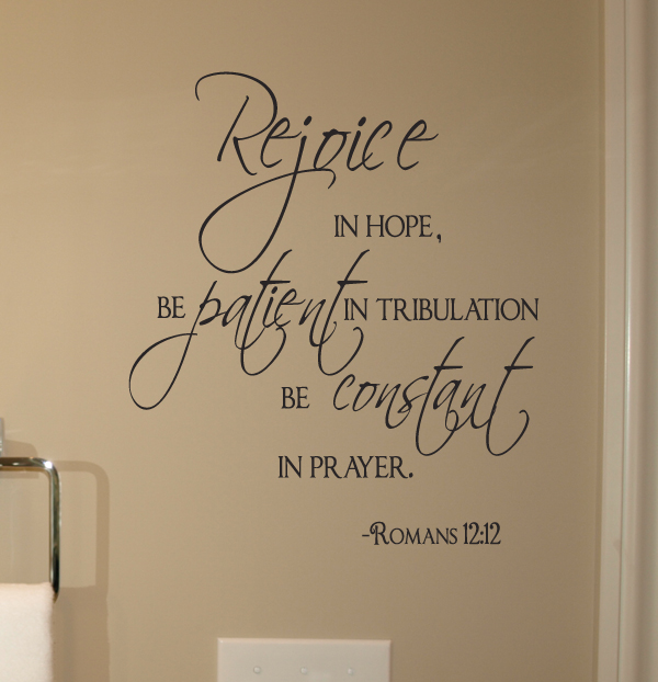 Rejoice In Hope Wall Decal