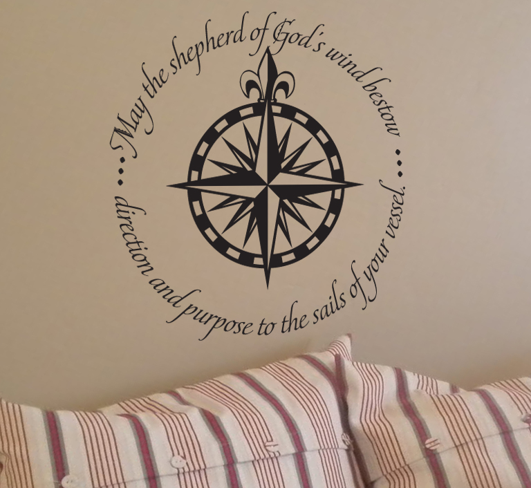 God's Wind Bestow Direction Purpose Wall Decal