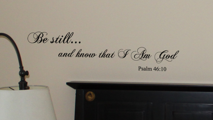 Be Still And Know Script Wall Decal