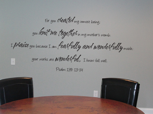 Your Works Are Wonderful Wall Decal