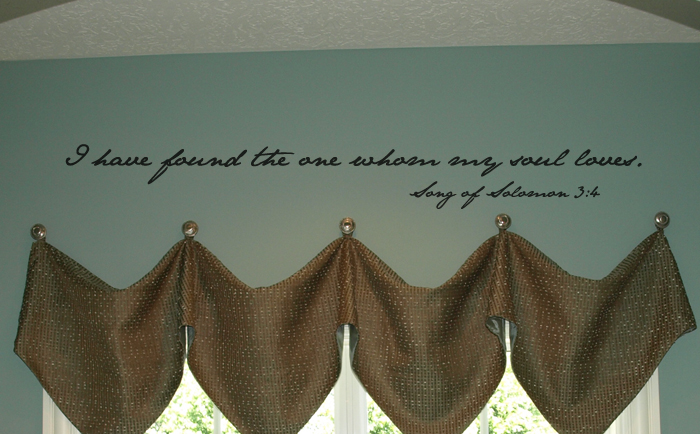 Song Of Solomon My Soul Loves Wall Decal
