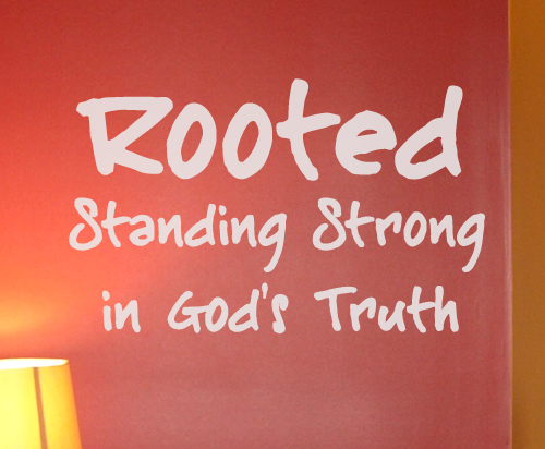 Rooted God's Trust Wall Decals