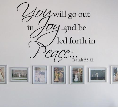 Isaiah 5512 Wall Decals