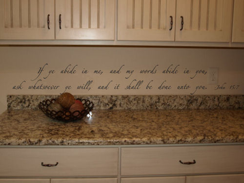Abide In Me Wall Decals