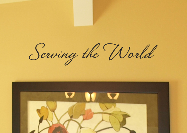 Serving The World Wall Decal