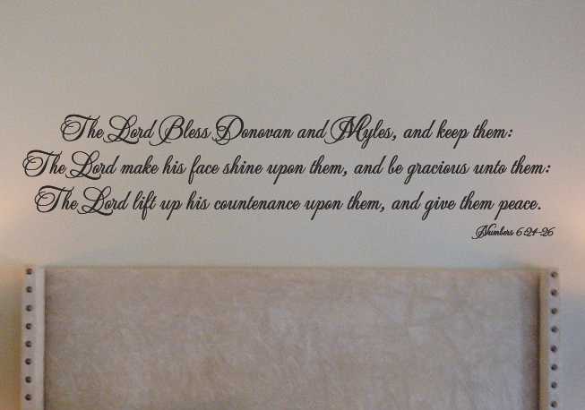 God Bless Donovan & Myles Wall Decal