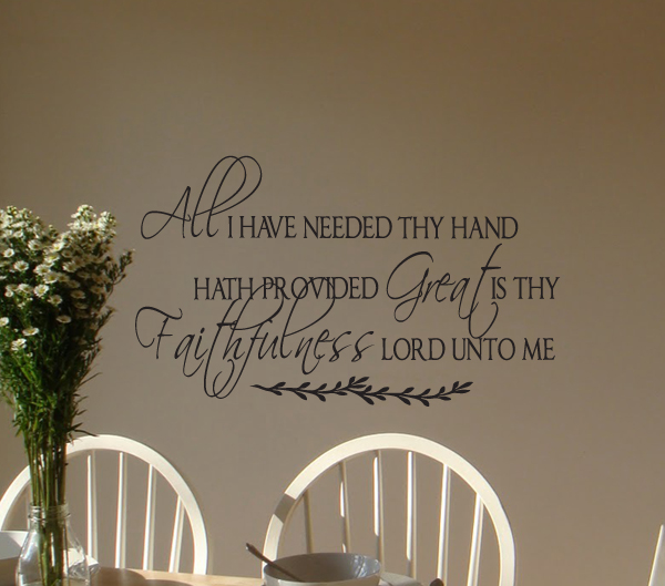 All I Have Needed Alternate Wall Decal