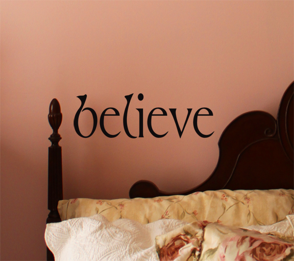 Simply Words Believe Wall Decal