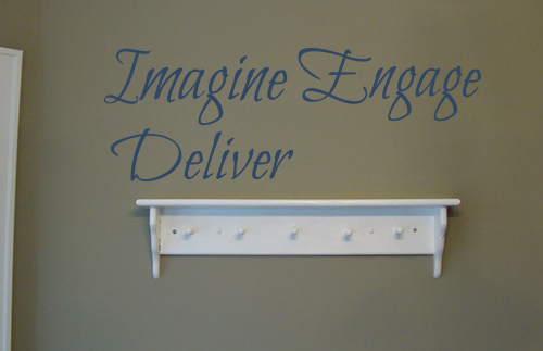 Imagine Engage Deliver Wall Decals