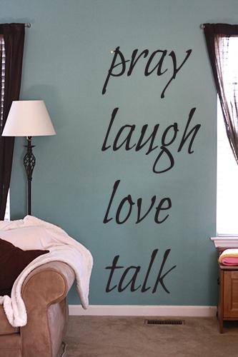 Bilbo Pray Laugh Love Talk Wall Decal