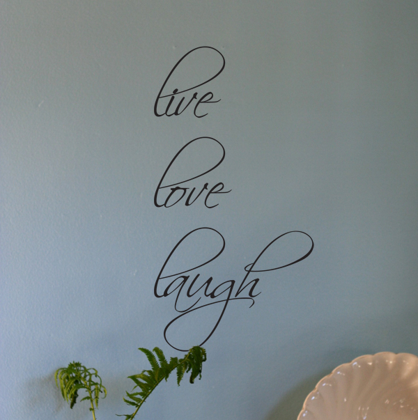 Script Live Love Laugh Wall Decal