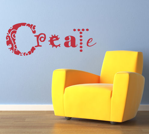 Simply Words Create Wall Decal