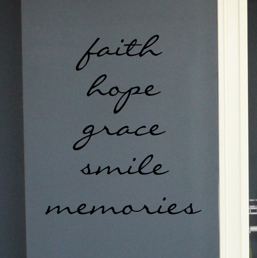 Words To Live By II Wall Decal
