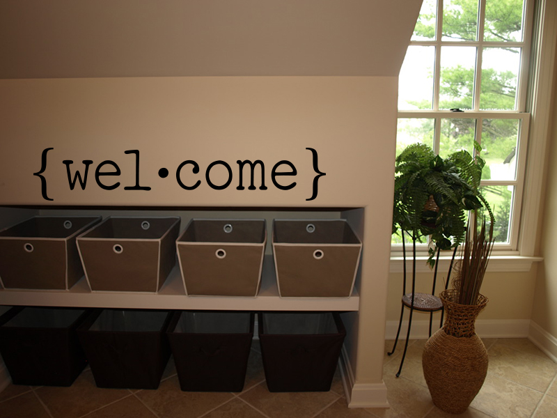 Welcome Brackets Wall Decal