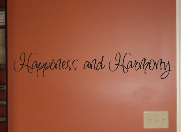 Happiness And Harmony Wall Decal